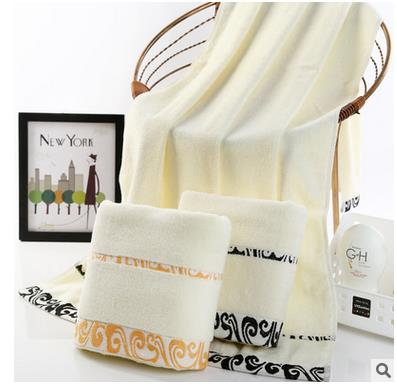 100% regalo de la toalla de baño de algodón Puro diseño portátil suave cerca de