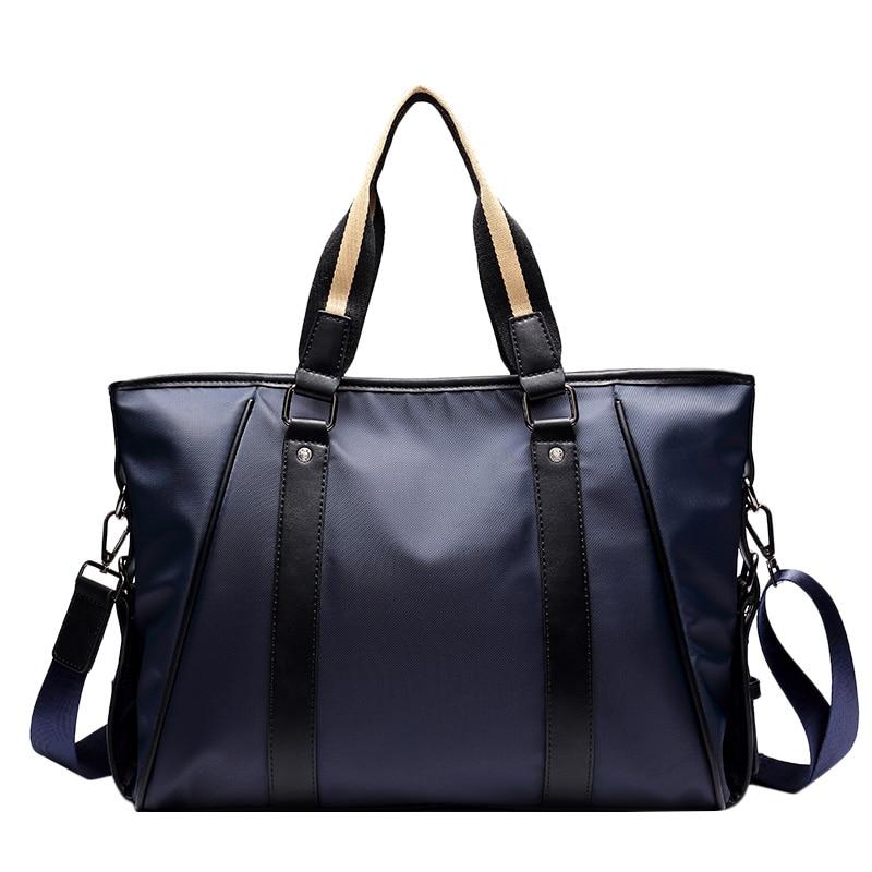 """2017 Licht Mode 14 """"laptop Schulter Tote Taschen Männer Nylon Aktentasche Einfache Design Männer Wasserdichte Handtasche 2019 New Fashion Style Online"""