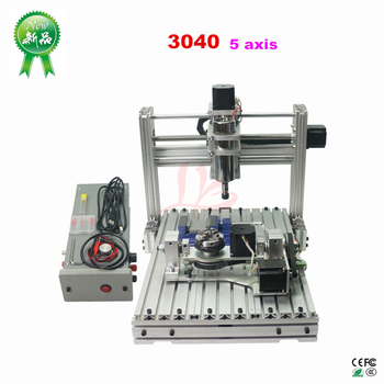 5 Axis DIY CNC 3040 With 400W Spindle Motor USB Port Mach3 ER11 Collet type For Pcb Pvc Woodworking CNC Milling Machine 2