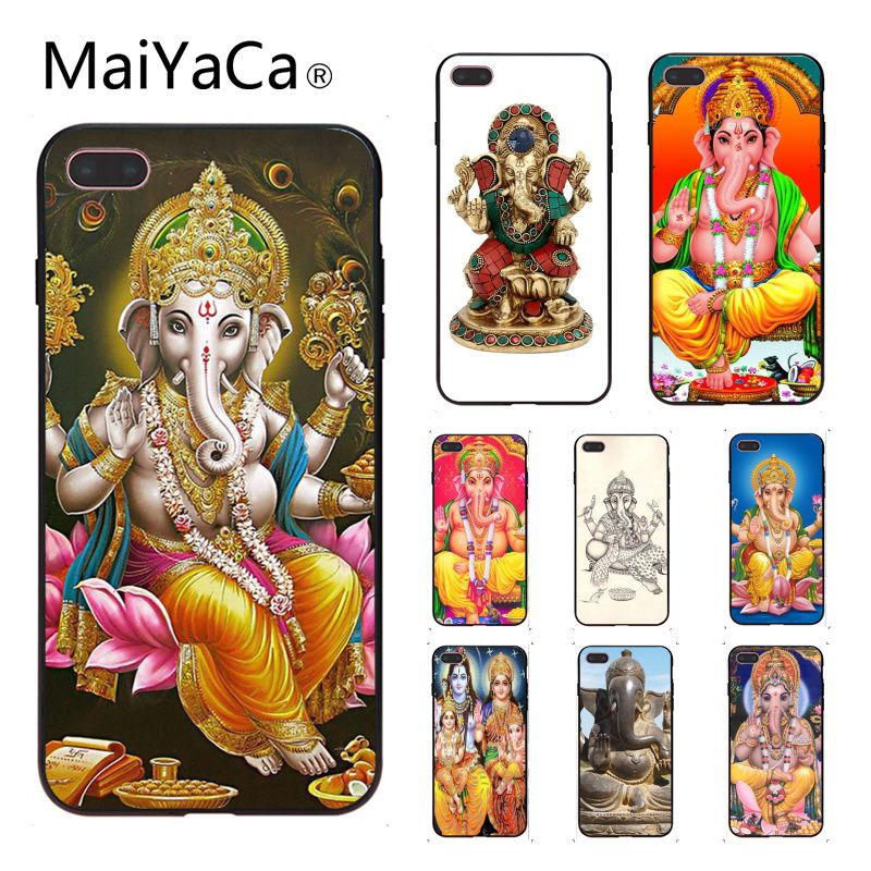 Half-wrapped Case Temperate Maiyaca Ganesha The Hindu God Ganesh Novelty Fundas Soft Phone Case Cover For Iphone X 8 8plus And 5 5s 6s 6s Plus 7 7plus