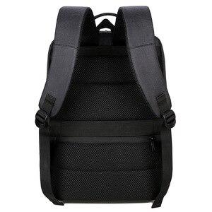 Image 3 - 2019 망 비즈니스 노트북 배낭 usb 충전 남성 14 15 인치 컴퓨터 가방 방수 bookbags 남성 여행 mochila