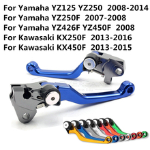 New CNC Pivot Brake Clutch Levers for Yamaha YZ125/250 2000-2015 YZ250F YZ426F/450F Blue Free shipping C20