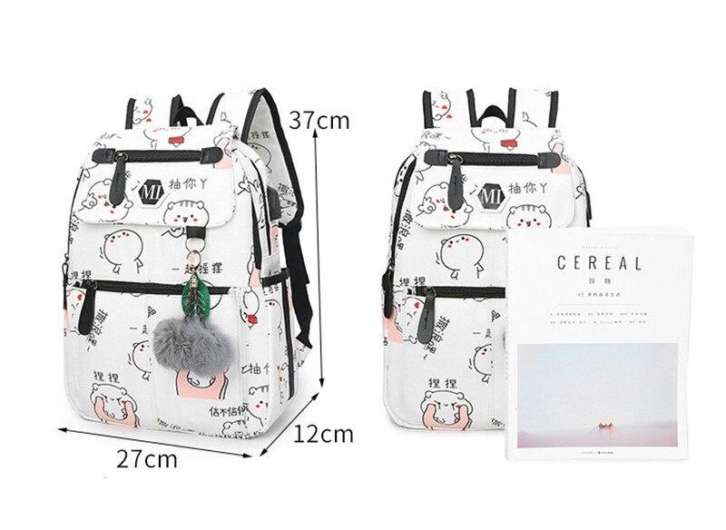 Alta qualidade lona sacos de escola para