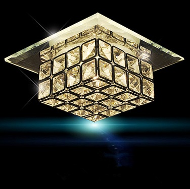 12CM Modern Crystal LED ceiling lamps,Simple corridor balcony entrance square glassfor bedroom hall,Bulb Included12CM Modern Crystal LED ceiling lamps,Simple corridor balcony entrance square glassfor bedroom hall,Bulb Included