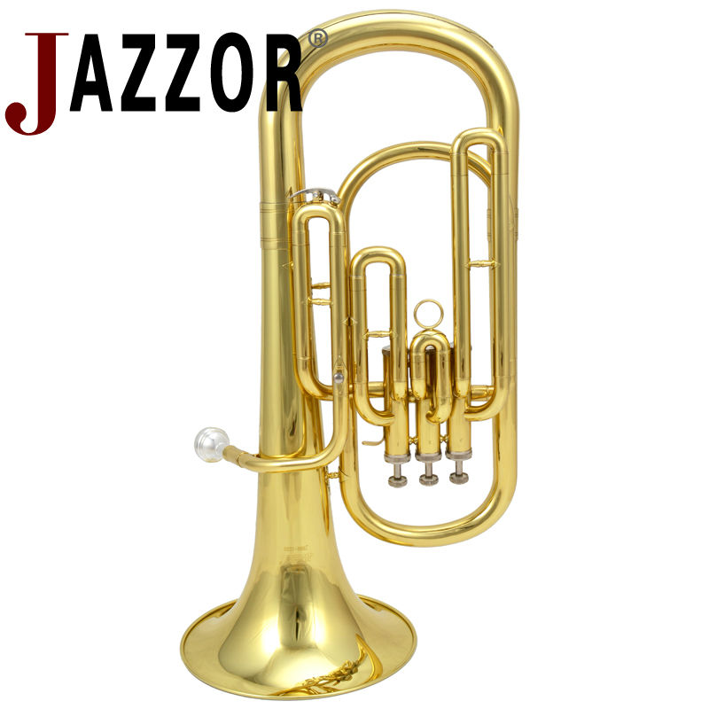 JAZZOR tenor horn B flat brass wind instrument JBBR-1220 with mouthpiece and case