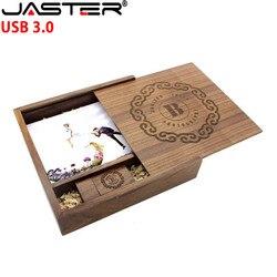 JASTER USB 3.0 (170mm * 170mm * 35mm) drewniane ramka na zdjęcia Album usb + pudełko pamięć usb 4GB 8GB 16GB 32GB prezent ślubny darmowe własne logo