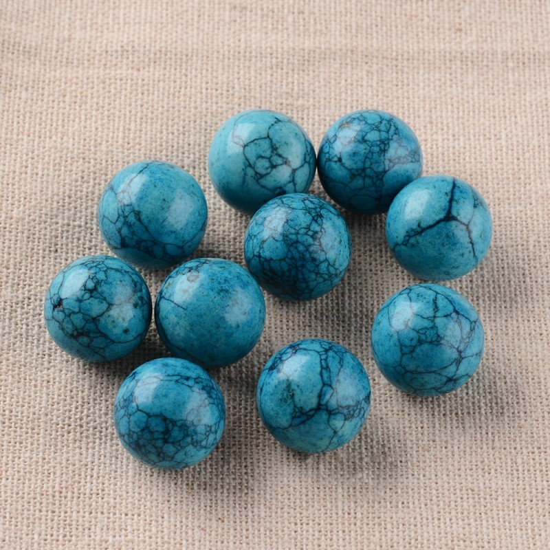 Synthetic Goldstone/Blue Goldstone/Cherry Quartz Glass/Opalite Round Ball No Hole Beads, Dyed, 16mm