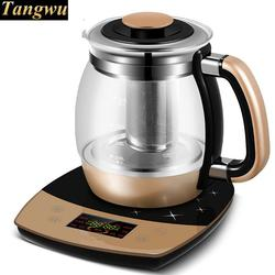 Fully automatic and thickened glass multi-function electric heating kettle flower pot boiling tea ware