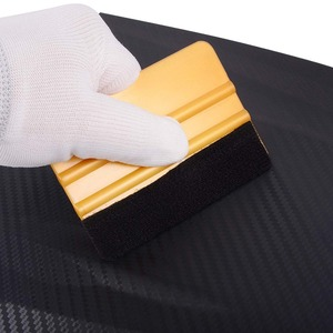 Image 5 - FOSHIO 6 pcs אין שריטות ויניל מגב סט פחמן סרט רכב גלישת מגרד חלון גוון גלישת כלי ערכת רכב אבזרים