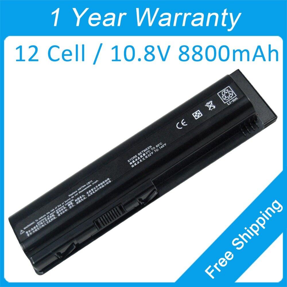 12 cellules batterie d'ordinateur portable hstnn - lb72 hstnn - q34c pour hp Pavilion DV6 DV4z DV5 DV4t-1200 DV4t-1300 DV4t-1400 dv4t DV4t-1600