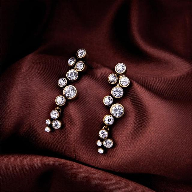 Jewelry Making Supplies Whole China Famous Names Wholes Of Round Inlay White Crystal Earrings
