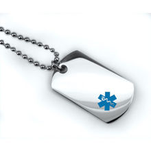Wholesale Medical Alert ID Dog Tag  Necklaces pendant hot sales Stainless steel dog tag FH890300