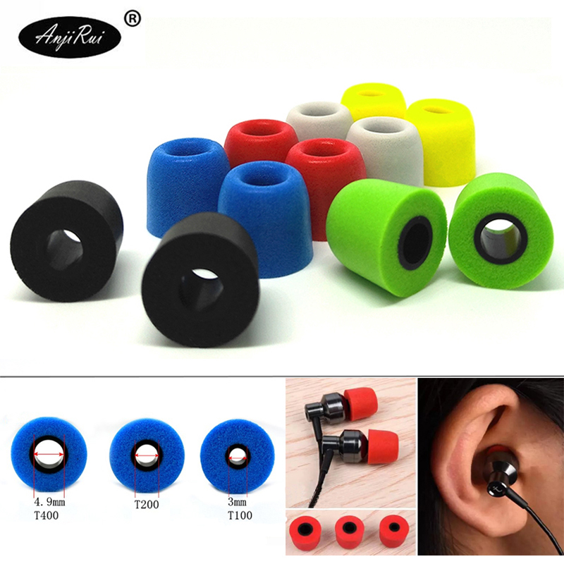 T100 T200 T400 T500 foam tips for headphone ear buds headset earphone noise isolation Enhanced Bass slow rebound sponge pads