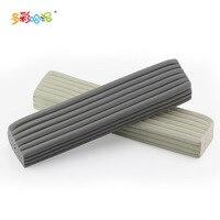 1 قطع الطين الطين النحت اليدوية لينة ديي الفخار السيراميك جودة الفن دليل جديد المهنية الأبيض الرمادي 22*5*3 سنتيمتر