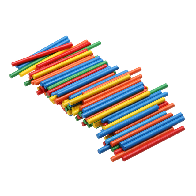 Colorful Wooden Montessori Counting Sticks (100 Pieces)