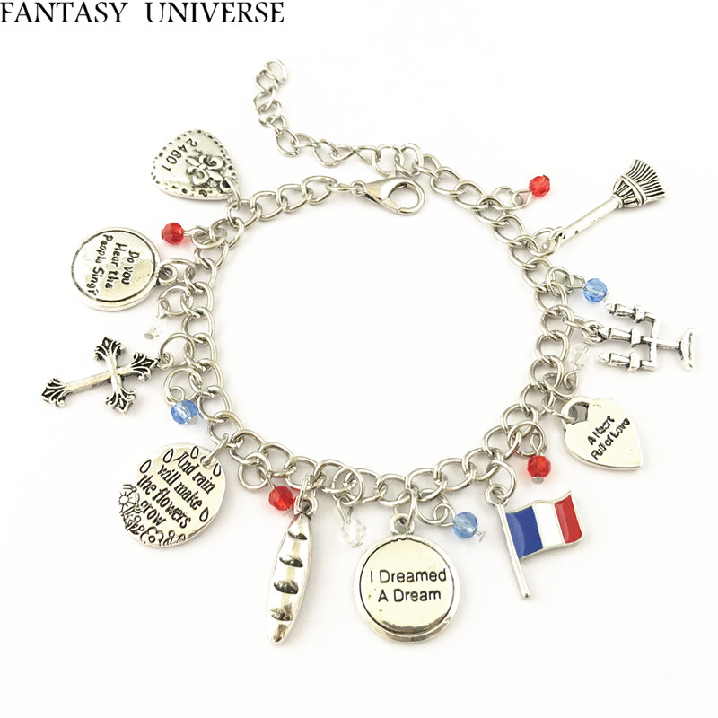 FANTASY UNIVERSE Freeshipping 20pc a lot the Les Miserable Charm Bracelet HRFFGFGF02