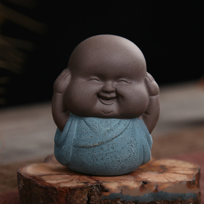 Sometimes The Young Monk Monk Purple Sand Tea Pet Tea Ceremony Creative Gifts Household Decoration in Incense Incense Burners from Home Garden