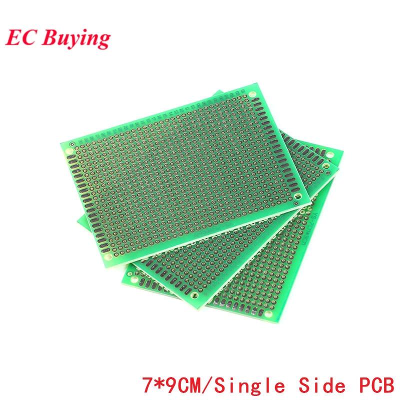 5PCS 5*7CM Single Side Green Oil Tinning Glass Fiber Universal Circuit Board