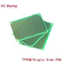 5 шт. 7x9 7*9 Односторонний Прототип PCB DIY универсальная печатная плата PCB стекловолокно универсальная плата зеленое масло эпоксидная печатная плата