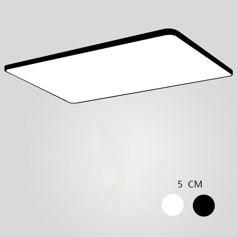 Lampes de plafond carrées ultra-fines, éclairage de plafond à la mode pour le salon lustres de plafond pour le hall lampadaire moderne