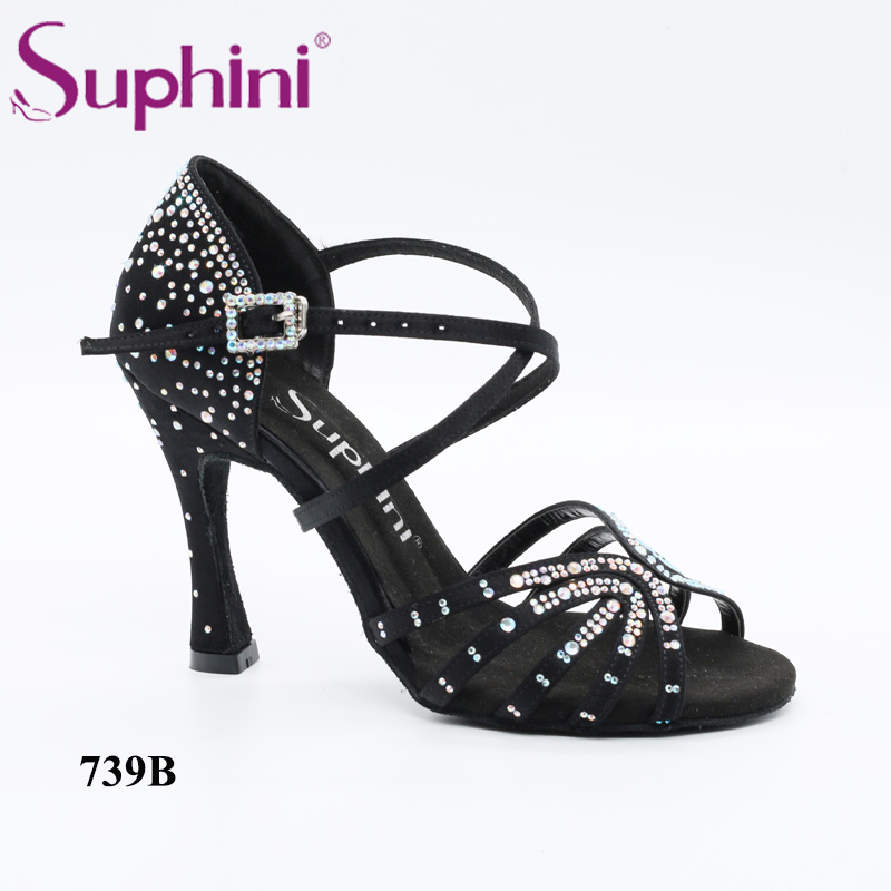 Free Shipping Suphini NEW IN Star Bling bling Latin Dance Shoes Party  Estrellado Woman Salsa Shoes-in Dance shoes from Sports   Entertainment on  ... 373e9f27e950