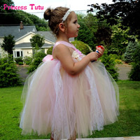 Toddler Girl Kids Halloween Costume Princess Tulle Tutu Dress Ball Gown Pageant Prom Birthday Party Wedding