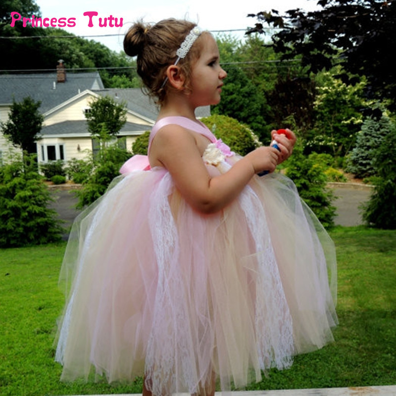 Toddler Girl Tulle Tutu Dress Princess Kids Halloween Costume Ball Gown Pageant Prom Birthday Party Wedding Ballet Dress 1-14Y