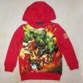 Мальчики мститель характер толстовки/Малыш Красный sweatershirt/Дети Весна auntaumn одежда/одежда для мальчиков с карманами (3-7Y)