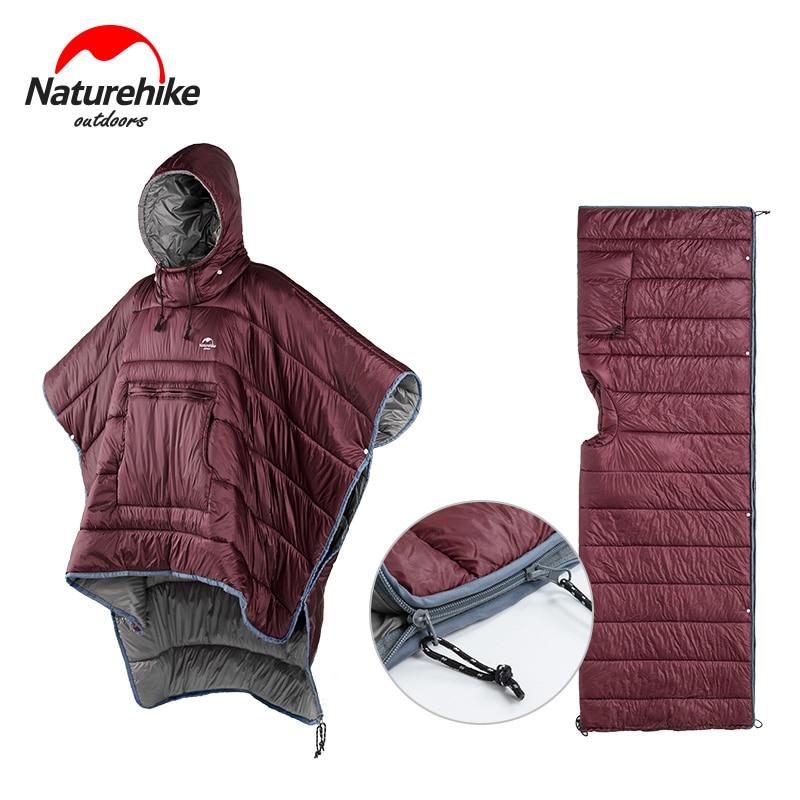 naturehike estilo capa preguicoso saco de dormir a prova de agua portatil acampamento saco de dormir