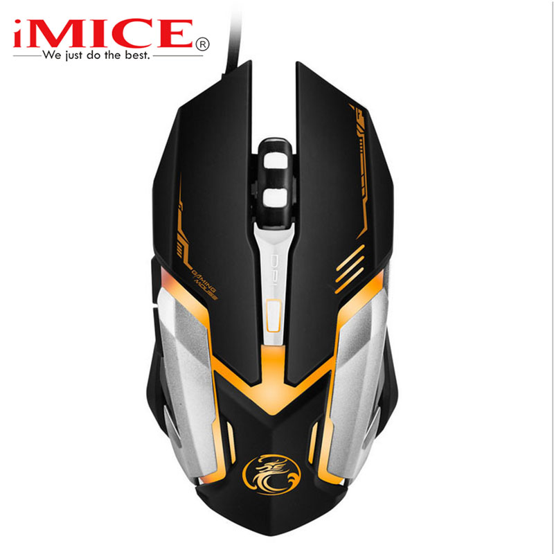 Wired Gaming Mouse 4800DPI Mice 6 Buttons Mouse Gamer USB Optical Mice Computer Mouse Cable Peripherals V6 For Laptop Desktop