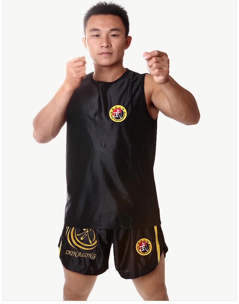 Top Quality Sanda Sets Wushu Muay Thai Boxeo MMA Clothes Taekwondo Boxing Clothes Sets Martial Arts Shorts+Jersey Kid To Adult