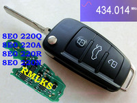 8E0837220Q 433Mhz 8E0 837 220Q ID48 Chip HU66 Auro Flip Remote Key 3BNT Car Remote Folding