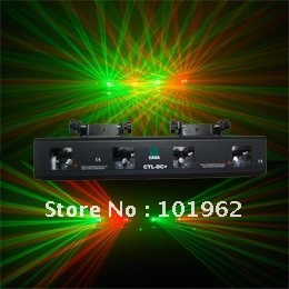 4 lens RG Party Effect DJ Sound Active Stage Light sound sensitive control DMX
