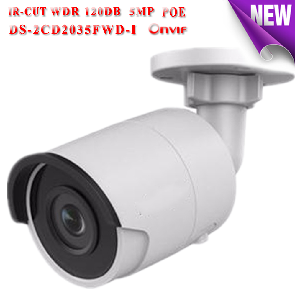 DS-2CD2035FWD-I hikvision ip camera poe 3mp 1080P ip cameras outdoor WDR 120DB Video Surveilance camera mini TF card slot cd диск fleetwood mac rumours 2 cd