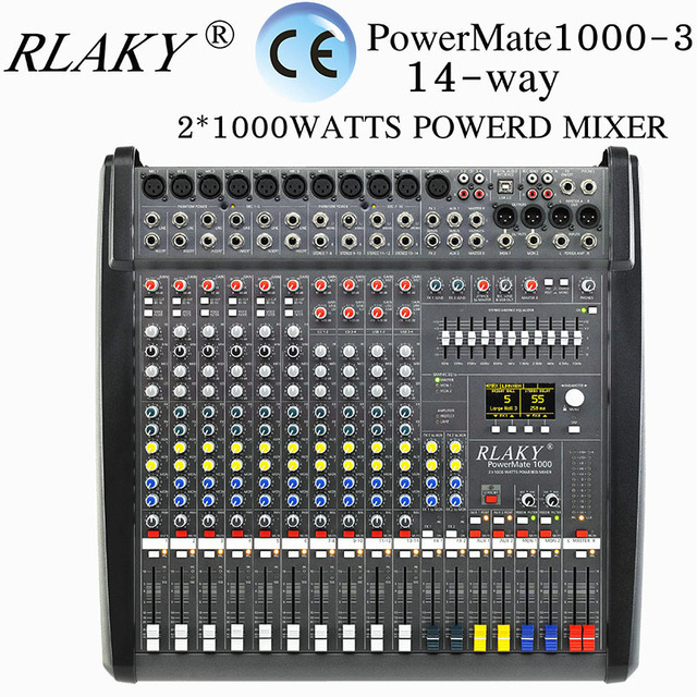audio mixer amplifier pm1000 3 digital audio mixer consoles 14 channel professional powered. Black Bedroom Furniture Sets. Home Design Ideas