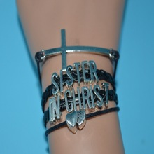 Afshor Cross Heart Sister In Christ Leather Women