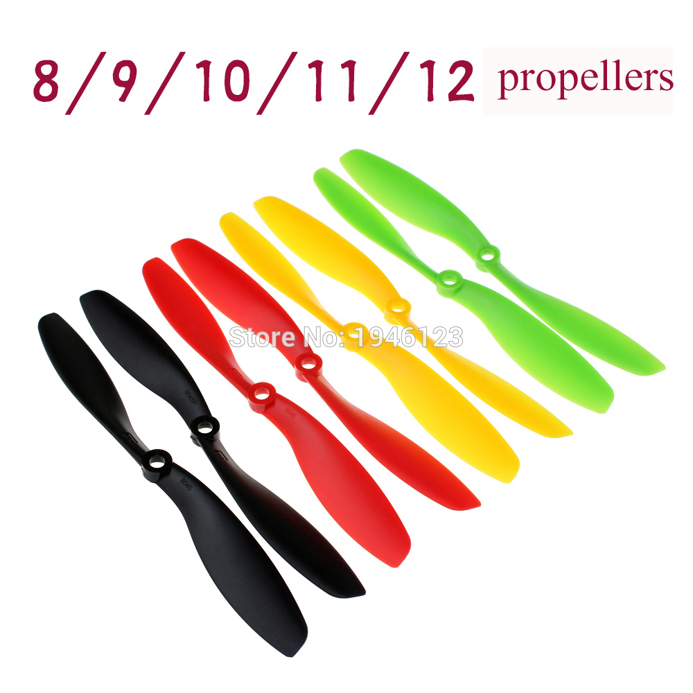 5 Pairs/10pcs FT 8x4.5 8045/9x4.7 9047/ 11x4.7 1147/12x4.5 1245 CW CCW Propeller Props For RC FPV Multi-Copter QuadCopter5 Pairs/10pcs FT 8x4.5 8045/9x4.7 9047/ 11x4.7 1147/12x4.5 1245 CW CCW Propeller Props For RC FPV Multi-Copter QuadCopter