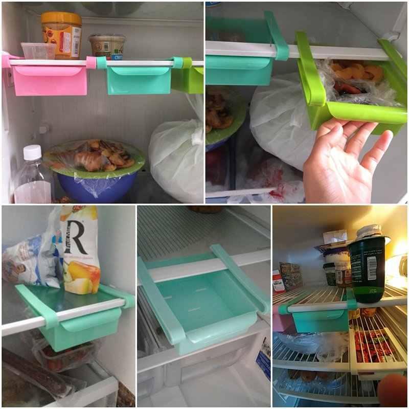 เป็นมิตรกับสิ่งแวดล้อม Multifunction Kitchen ตู้เก็บของตู้เย็นตู้เย็นตู้แช่ชั้นวางของลิ้นชักดึงออก Organizer Space saver