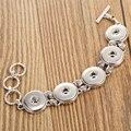 Botão de pressão de Jóias Pulseiras Pulseiras DIY Botões de Metal 18mm de Encaixe Gengibre Pulseira Para As Mulheres Charme Pulseiras