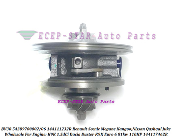 Turbo CHRA Cartridge BV38 54389700002 54389880002 144111232R For Renault Scenic Megane Kangoo For Nissan Qashqai Juke K9K 1.5dCi