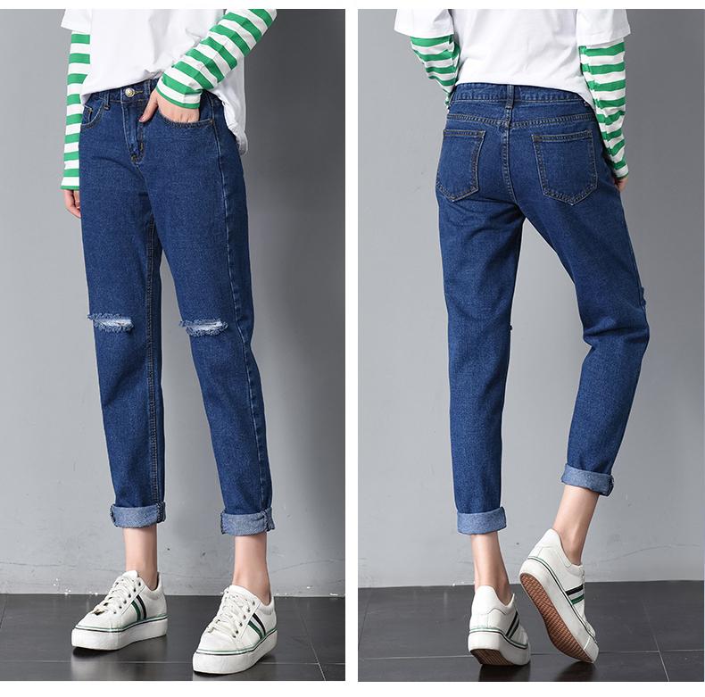 HTB14dzcSpXXXXXOaXXXq6xXFXXX3 - Women High Waist Jeans Ripped Solid JKP127