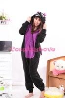 มังกรดำชุดนอนสัตว์คอสเพลย์แต่งกายเด็กผู้ใหญ่ชุดนอนOnesiesการ์ตูนชุดนอนSleepsuit