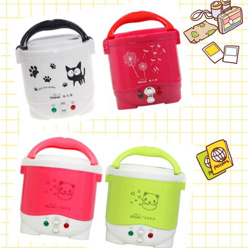 Cuiseur à riz 1L utilisé dans la maison 110v à 220v ou voiture 12v à 24v assez pour deux personnes avec des Instructions en anglais