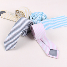 Fashion Pure Fresh Nature Contracted Neck Tie Striped Show Host Bridegroom Wedding Suit Shirt Accessories Skinny Cravat
