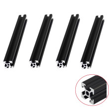 4pcs/lot BLACK 2020 Aluminum Profile European Standard Anodized Extrusion 200 350 800 mm Length for CNC 3D Printer