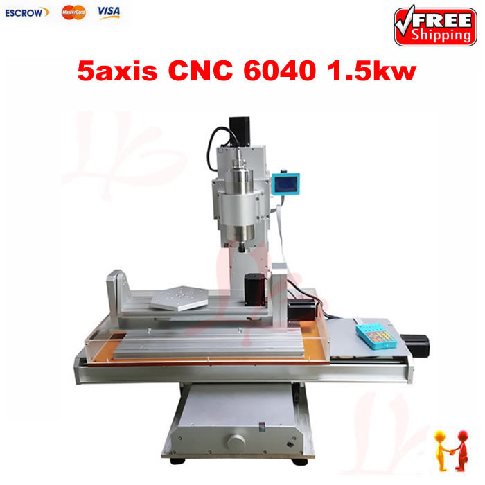 6040 cnc router 1500W spindle Ball Screw 5 axis cnc engraving cutting machine for metal aluminum Wood