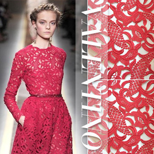 Lady long dress overcoat lace material 120CM wide high quality guipure lace water soluble lace fabric for lady fashion show NEW