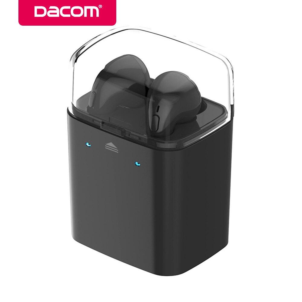 Original Dacom True Mini Wireless Sport Bluetooth Earbuds earphone with Charging box For iPhone 8 7 plus Xiaomi Samsung Huawei