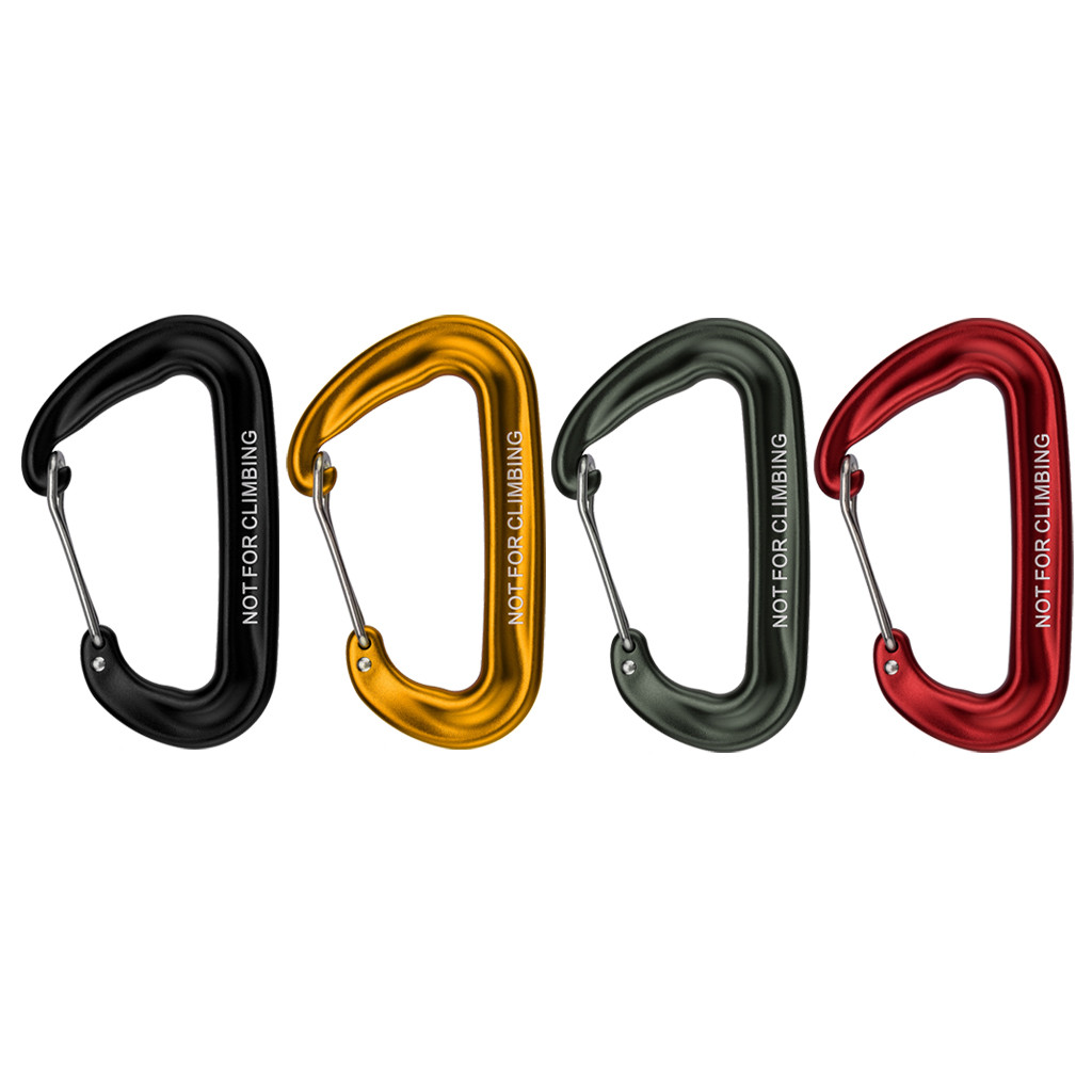 2019 New Style Carabiner Outdoor Climbing Backpack Hook 12kn Spring Clip Keychain Carabiner Hammock Hook Camping Equipment Escalada Crochet#080 Evident Effect