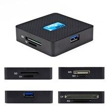 Все-в-1 кард-ридер Высокоскоростной USB 3,0 компьютерные компоненты для ноутбуков TF CF XD M2 MS флэш-карты памяти аксессуары